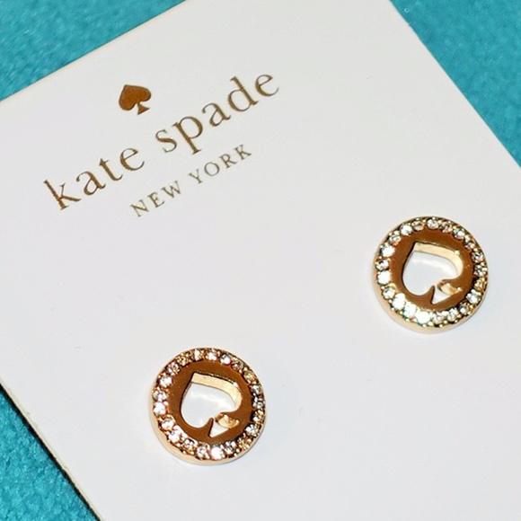 76bcc5870f0fee kate spade Jewelry | Spot The Spade Pave Halo Spade Studs | Poshmark